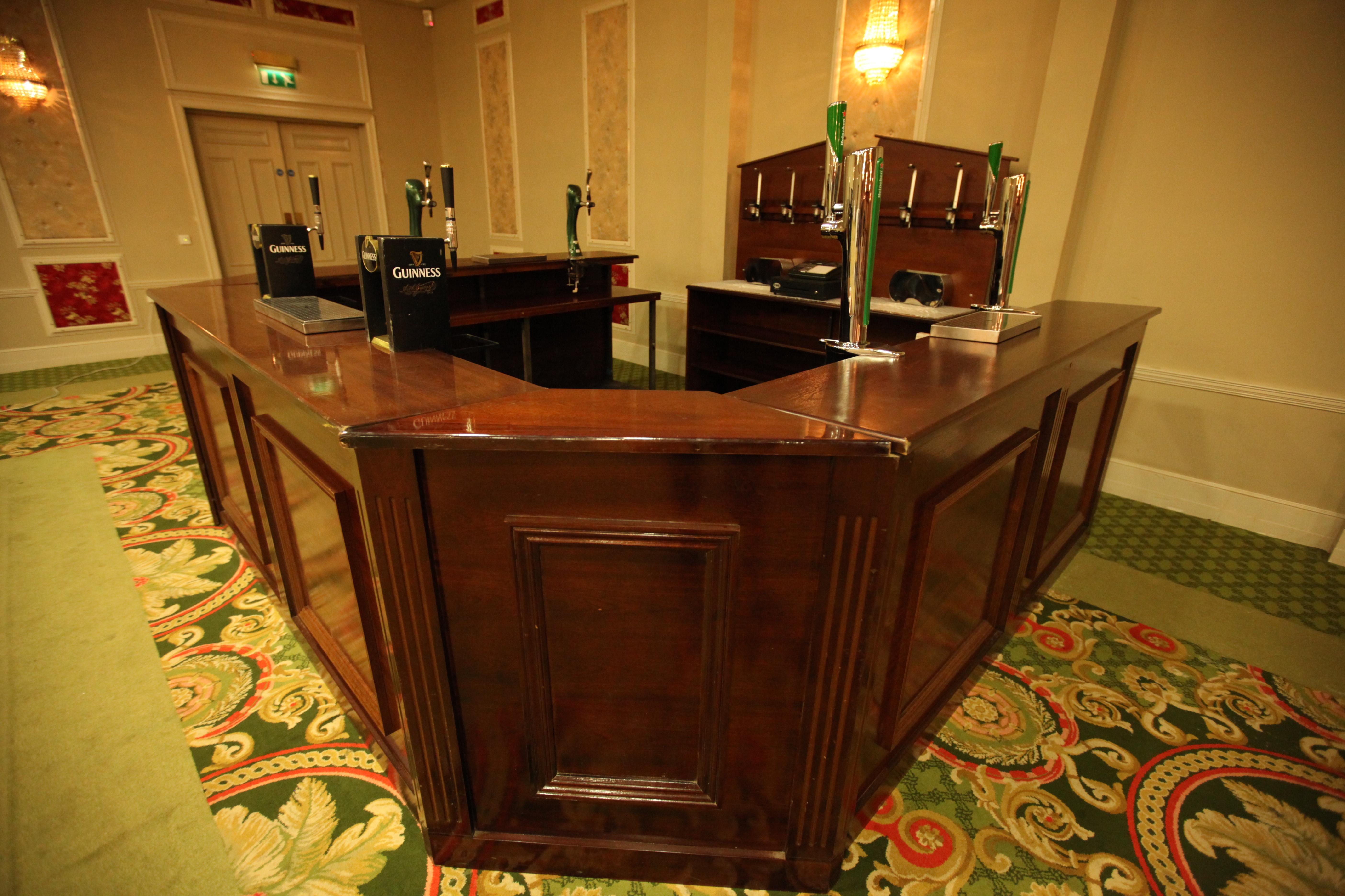 banquet bar 24ft u shape event bars ltd. Black Bedroom Furniture Sets. Home Design Ideas