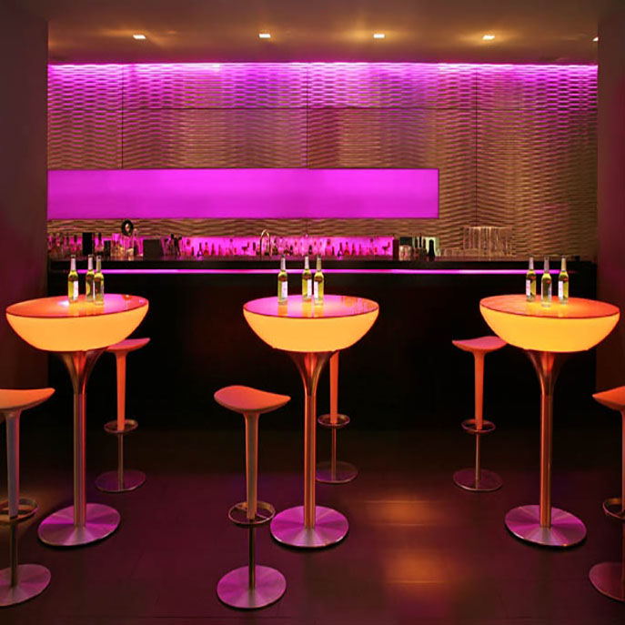 Led table cocktail event bars ltd for Cocktail tables led