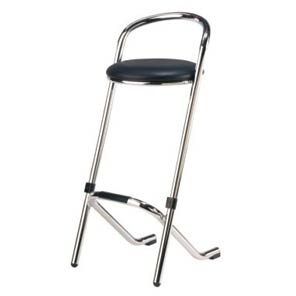 Bar stool - Black leather€9.00