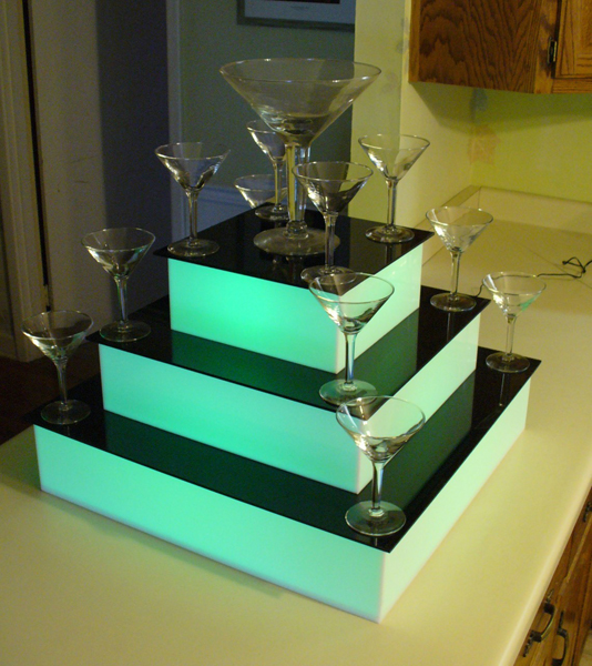 Led Champagne Cocktail Display Event Bars Ltd