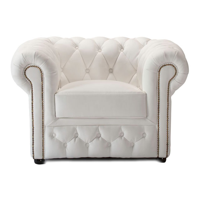 Chesterfield Armchair - White