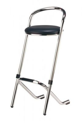 Bar stool - White leather€9.00